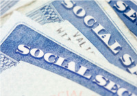Multiple Social Security Cards stacked